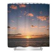 Majestic Ocean Sunset Shower Curtain