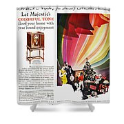 Majestic Radio Ad, 1929 Shower Curtain