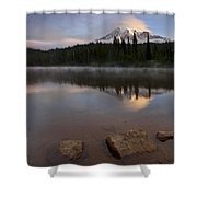 Majestic  Rainier Dawn Shower Curtain