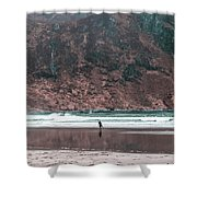 Majestic Surfer  Shower Curtain