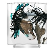 Majestic Turquoise Horse Shower Curtain