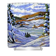 Majestic Winter  Shower Curtain