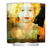 Golden Curls Shower Curtain