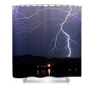 Major Foothills Lightning Strikes Shower Curtain