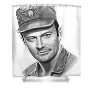 Major Frank Burns Shower Curtain