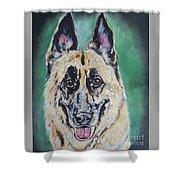 Major, The German Shepherd  Shower Curtain