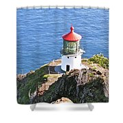 Makapuu Lighthouse 1065 Shower Curtain by Michael Peychich