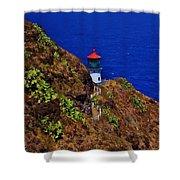 Makapu'u Lighthouse Shower Curtain
