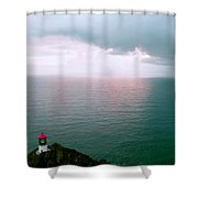 Makapuu Lighthouse Shower Curtain