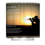 Make A Difference Shower Curtain