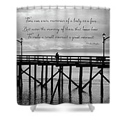 Make A Small Moment A Great Moment - Black And White Art Shower Curtain