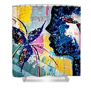 Make A Wish Abstract Art Figure Painting  Shower Curtain