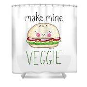 Make Mine Veggie Shower Curtain