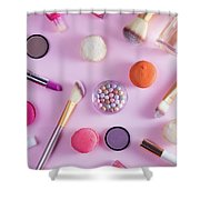 Make Up And Sweets Shower Curtain