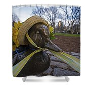 Make Way For Ducklings B.a.a. 5k Spring Bonnet Shower Curtain