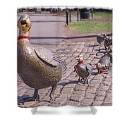 Make Way For The Ducklings Shower Curtain