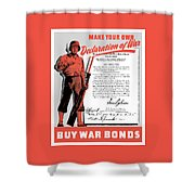 Make Your Own Declaration Of War Shower Curtain