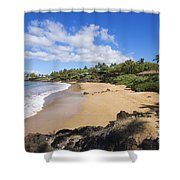 Makena, Changs Beach Shower Curtain