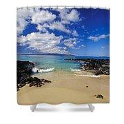 Makena, Secret Beach Shower Curtain