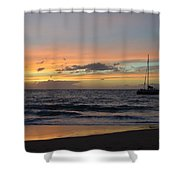 Makena Sunset Shower Curtain
