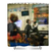 Makeup And Hair Artists Competition Blur Background Shower Curtain