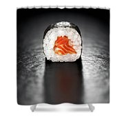 Maki Sushi Roll With Salmon Shower Curtain