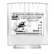 Making America Strong Cartoon Shower Curtain