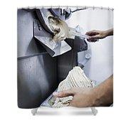 Making Gelato Ice Cream With Modern Machine Shower Curtain
