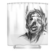 Making Marks And Coaxing Emotions 2 Shower Curtain