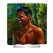 Making Nohea Laugh Shower Curtain