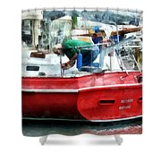 Making The Boat Shipshape Shower Curtain
