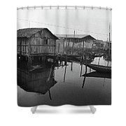 Houses On Stilts Shower Curtain