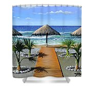 Makry Gialos Beach Shower Curtain