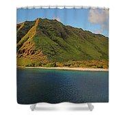 Makua, Oahu Shower Curtain