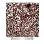 Malaika's Sleep - Tile Shower Curtain
