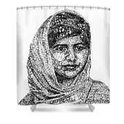 Malala Yousafzai Shower Curtain