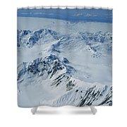 Malaspina Glacier Shower Curtain