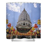 Malaysian Temple Shower Curtain