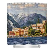 Malcesine Castle, Lago Di Garda Shower Curtain