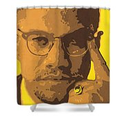 Malcolm El Afroxicano Shower Curtain