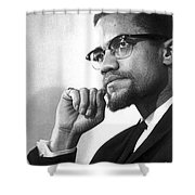 Malcolm X (1925-1965) Shower Curtain by Granger