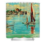 Maldon, England, Sailing Boats Shower Curtain