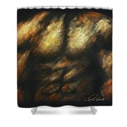 Male Bodybuilder Shower Curtain