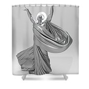 Male Lamp Number Eighteen Shower Curtain