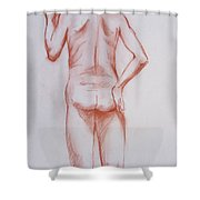 Male Model 19 Shower Curtain