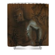 Male Nude 17. East Meets West 1. Shower Curtain