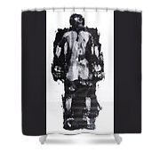 Male Nude Back Shower Curtain