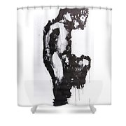 Male Nude Side Shower Curtain
