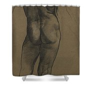 Male Nude Study Shower Curtain by Evelyn De Morgan