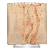Male Nude [verso] Shower Curtain